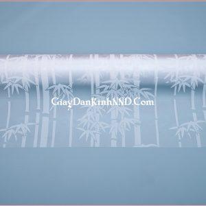 Giấy decal dán kính hình cây trúc trắng mã A0