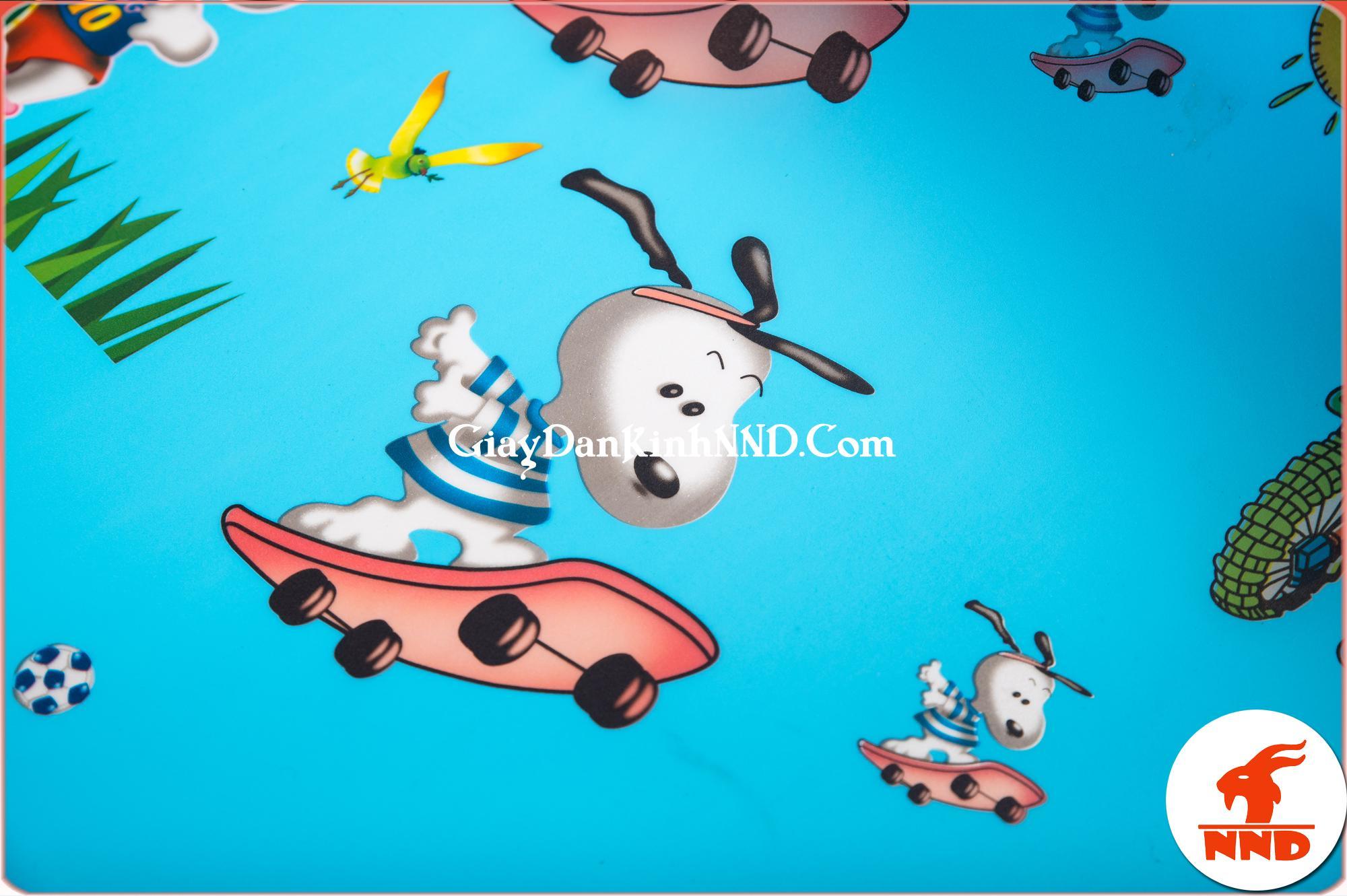 Giấy dán kính họa tiết hình chú chó mã A05