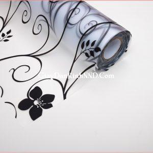 Giấy dán kính trang trí hoa dây đen mã A18