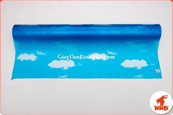 Mẫu giấy decal dán kính hình mây trời mã A30