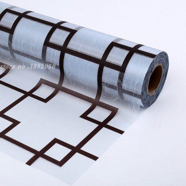 Đây là hình ảnh sản phẩm giấy dán kính trang trí A25, những hình ô vuông màu nâu nhạt xếp liên kết đan xen nhau rất hợp lý và logic, mang lại cho người nhìn vào nó có cảm giác thoải mái tự nhiên nhất.