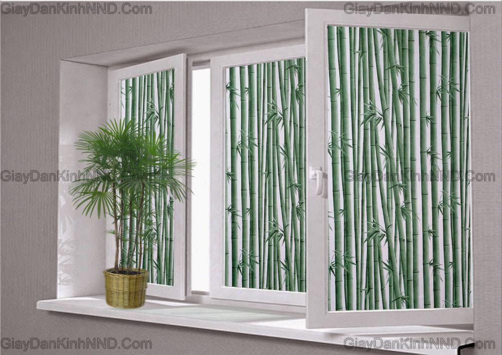 Giấy dán kính trang trí hình cây trúc mang không gian xanh mát vào ngôi nhà của bạn