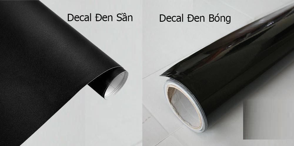 Decal dán kính màu đen có 2 loại là decal đen sần và decal đen bóng với chung 1 mức giá và chất lượng