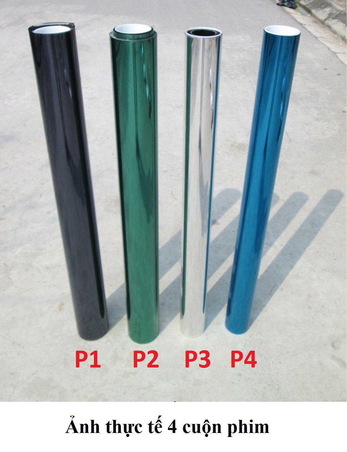 Phim cách nhiệt phản quang Đài Loan gồm 4 màu lần lượt là P1, P2, P3 và P4