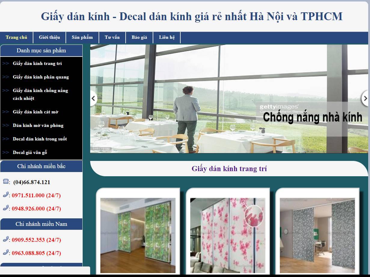 GiaydankinhHaNoi.Com là website chuyên cung cấp và thi công giấy dán kính lâu đời nhất tại Việt Nam
