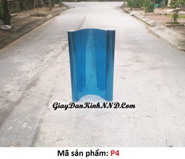 Phim cách nhiệt phản quang màu xanh dương mã P4 rất được ưa chuộng trong nhóm 4 mẫu giấy dán kính phản quang Đài Loan chỉ đứng sau mã P1