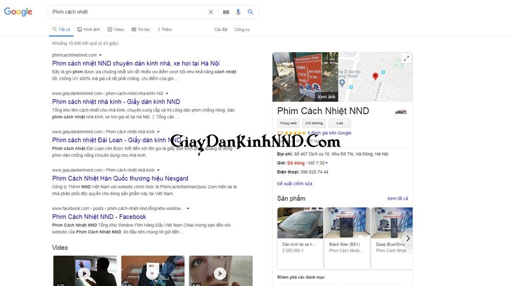 Tìm kiếm thật nhiều các trang web bán phim cách nhiệt