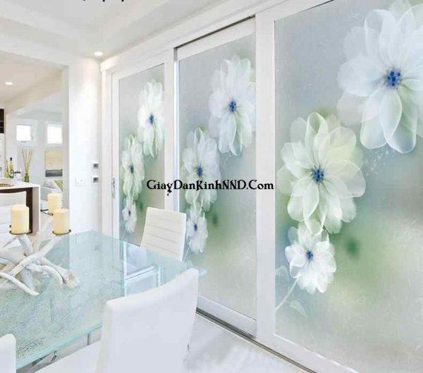 Vách cửa in tranh dán kính nghệ thuật