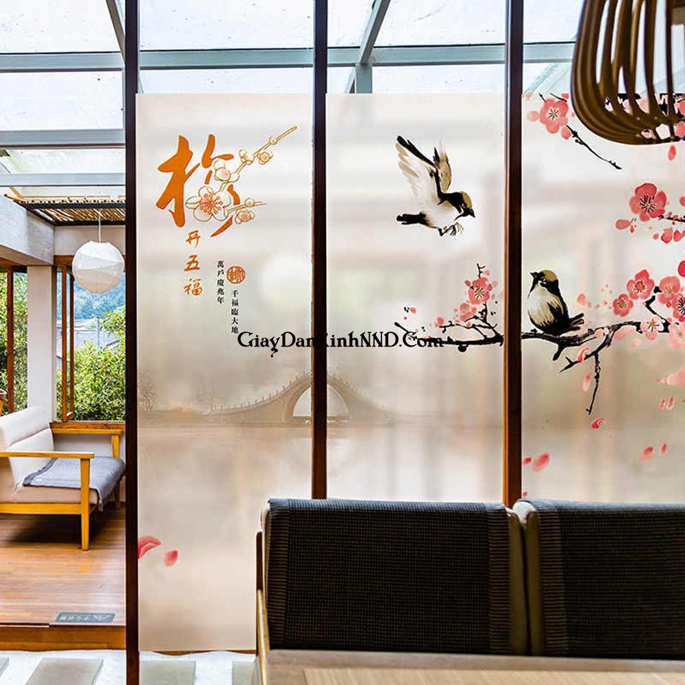 Vách ngăn phòng của các spa sử dụng tranh dán kính mờ phong cách Nhật mang vẻ đẹp tinh tế