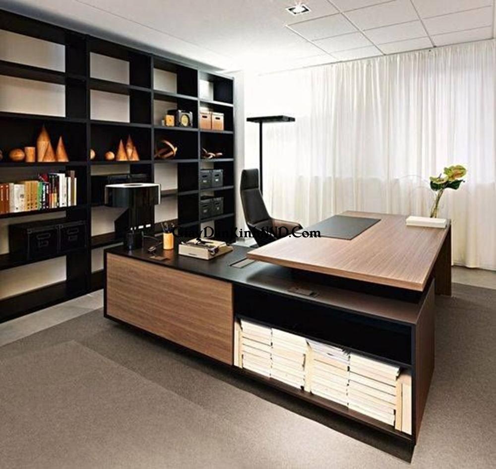 Ghế sofa là vật dụng quan trọng, không thể xem nhẹ trong phòng làm việc của lãnh đạo.