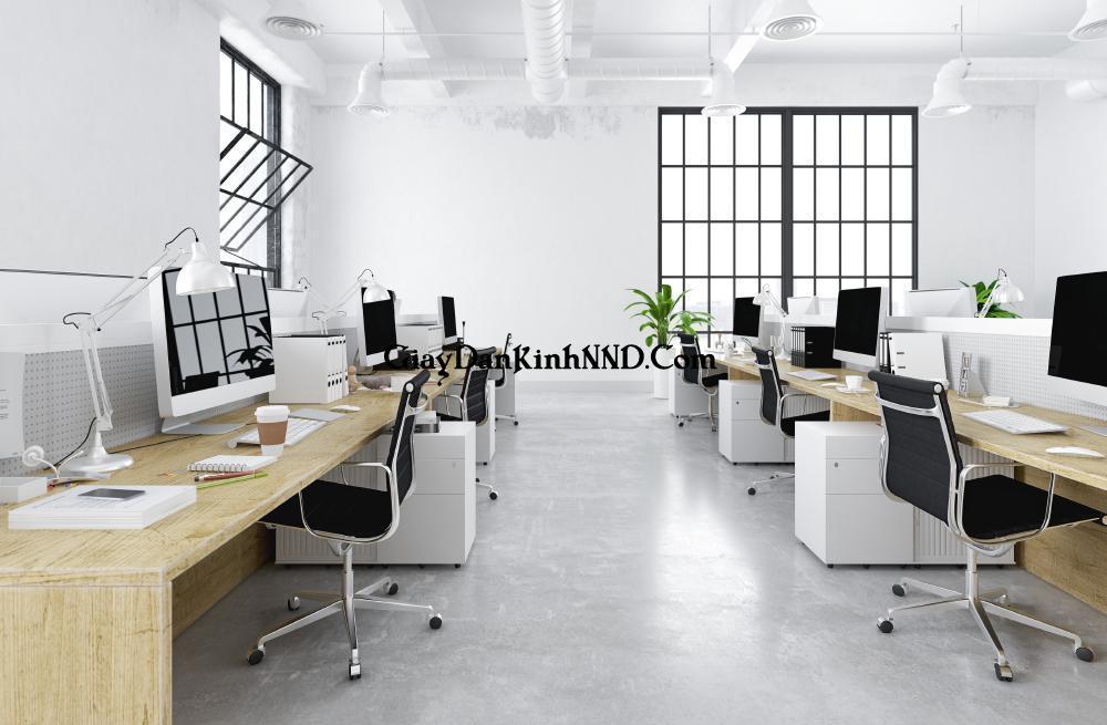 Văn phòng thiết kế theo phong cách tối giản