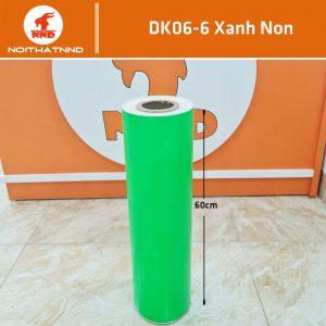 DK06-6 là mẫu decal màu xanh non lá mạ. Đây là mẫu màu khá đẹp và bắt mắt. Tuy nhiên lại kén vị trí dán.