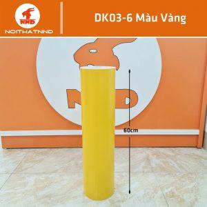 Dk03-6 là decal màu vàng rất được ưa chuộng và sử dụng rộng rãi. Ngoài dùng để dán kính chúng còn thường sử dụng trong cắt chữ decal, dán xe...