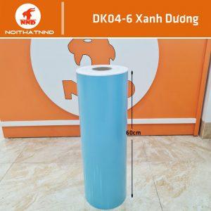 Decal màu xanh dương khổ 0.6m mã DK04-6. Đây là mẫu màu thông dụng và rất được ưa chuộng chuộng. Cũng là màu có mức tiêu thụ lớn nhất trong nhóm các màu cơ bản của decal.