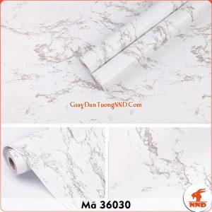 Decal dán tường giả đá hoa cương trắng mã 36030