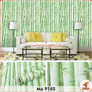 Decal dán tường hình cây trúc xanh mã 9145