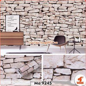 Decal dán tường giả đá 3D mã 9245