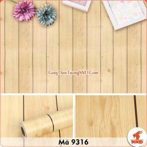 Decal dán tường 3D vân gỗ mã 9316