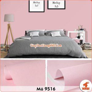Decal dán tường màu hồng phấn mã 9516