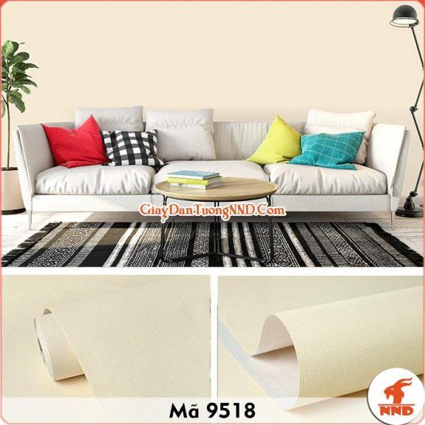 Decal màu vần trơn vân sần dán tường mã 9518