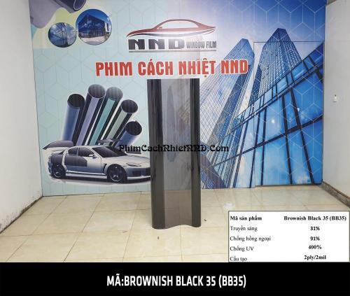 Brownish Black 35 (BB35) cũng thường được dán nhiều cho kính hậu và kính sườn của xe hơi và dán nhà kính chống ánh sáng tốt