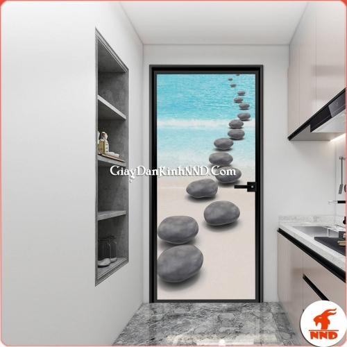 In tranh dán kính nghệ thuật cho cửa thông phòng