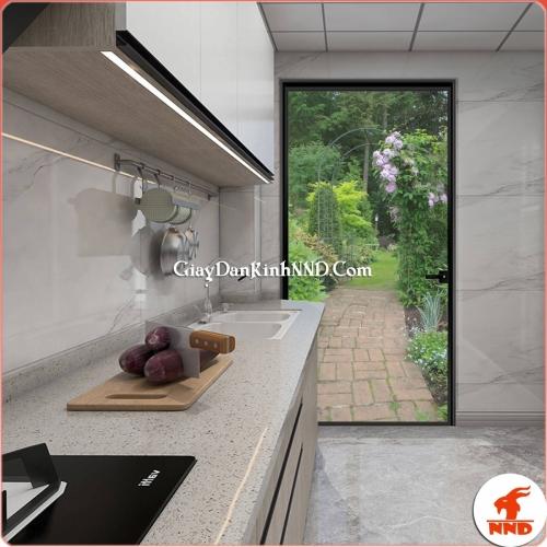 Tranh dán kính 3D phong cảnh trang trí cho nhà bếp