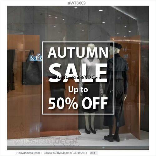 Cắt chữ quảng cáo sale cho shop thời trang bằng decal trắng