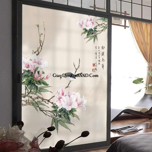 Tranh dán kính nghệ thuật trang trí cho phòng ngủ